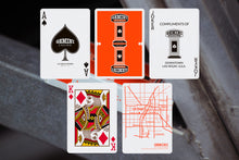 Load image into Gallery viewer, Gemini Casino Orange Playing Cards