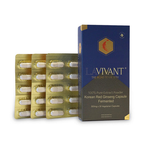 Korean Fermented Red Ginseng Vegetarian Capsules - Lavivant