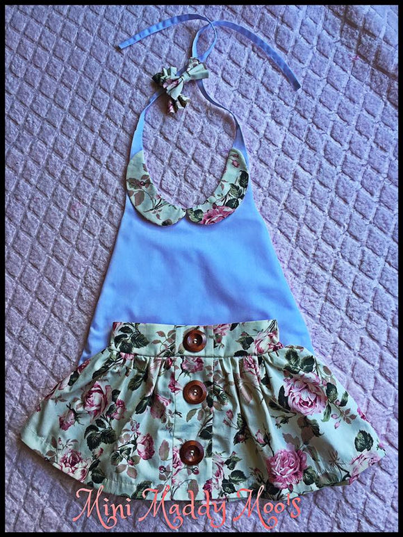 Vintage Rose Maddy Button Skirt & Lilly Collar Top - Mini Maddy Moo's