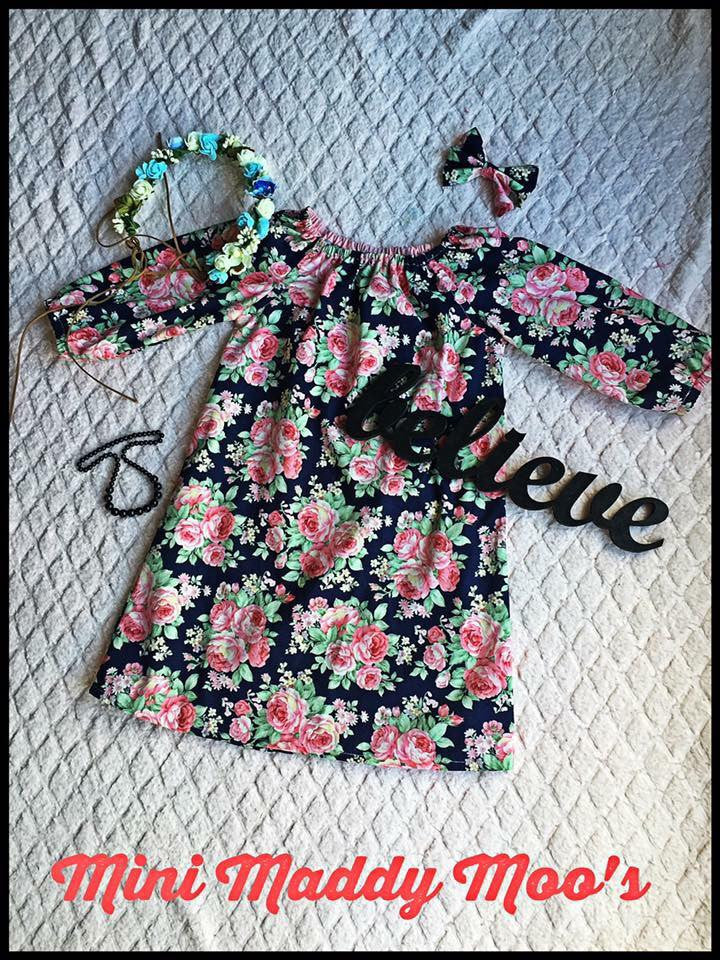 Custom - Seaside Dress - Mini Maddy Moo's