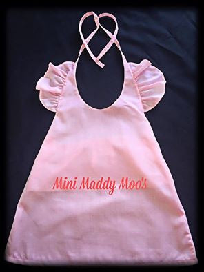 Vintage Rose Maddy Skirt & Pink Lilly Flutter Top - Mini Maddy Moo's