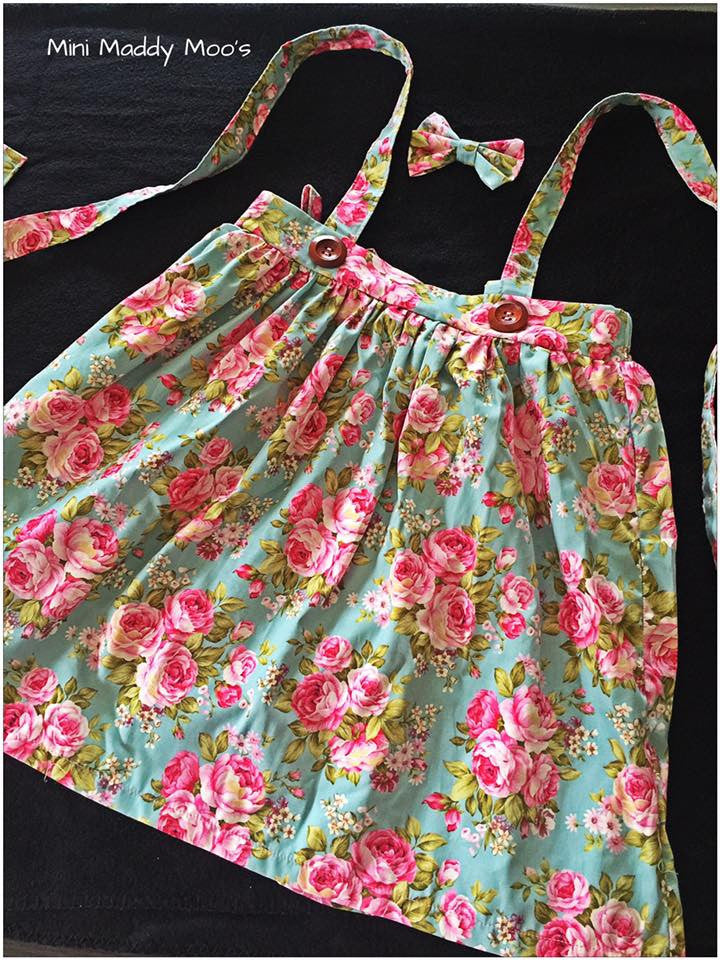 Harper Suspender Skirt - Mini Maddy Moo's
