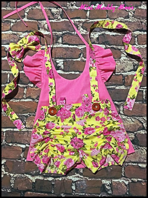 Avery Suspender Puckers and Lilly Flutter Top - Mini Maddy Moo's