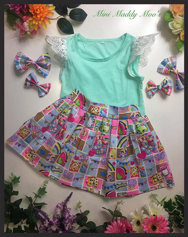 Shopkins Maddy Skirt & Flutterby Tank - Mini Maddy Moo's