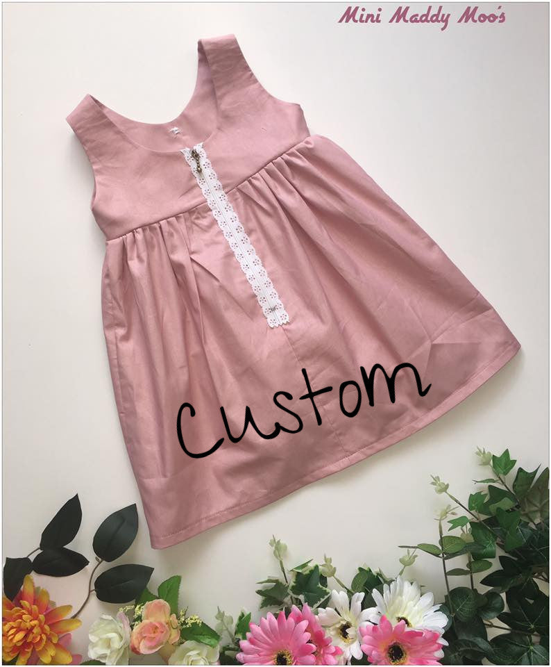 Custom - Milly Rose Button Dress - Mini Maddy Moo's
