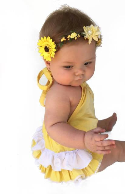 Custom - Ruffle Bum Playsuit - Mini Maddy Moo's