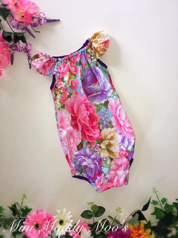 Custom Seaside Romper - Mini Maddy Moo's