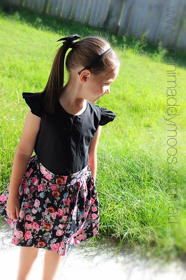 Custom - Maddy Button Skirt - Mini Maddy Moo's