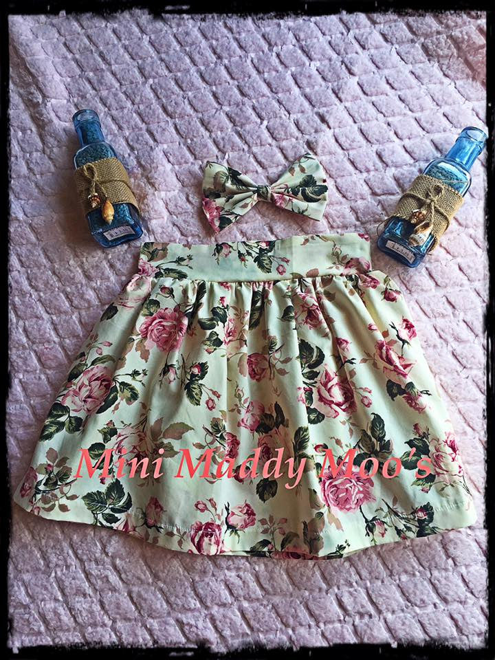 Vintage Rose Maddy Skirt - Mini Maddy Moo's