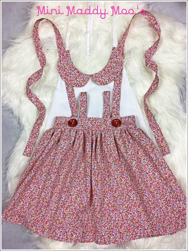 Custom - Suspender Skirt & Lilly Collar Top - Mini Maddy Moo's