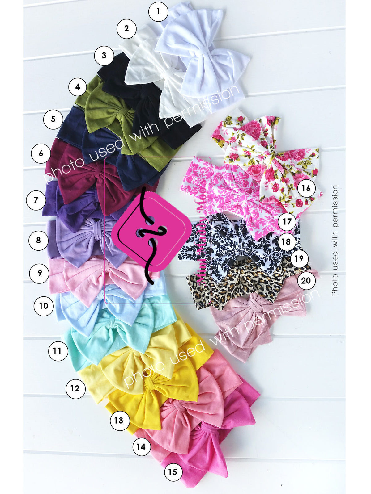 Big Bow Headbands - Mini Maddy Moo's