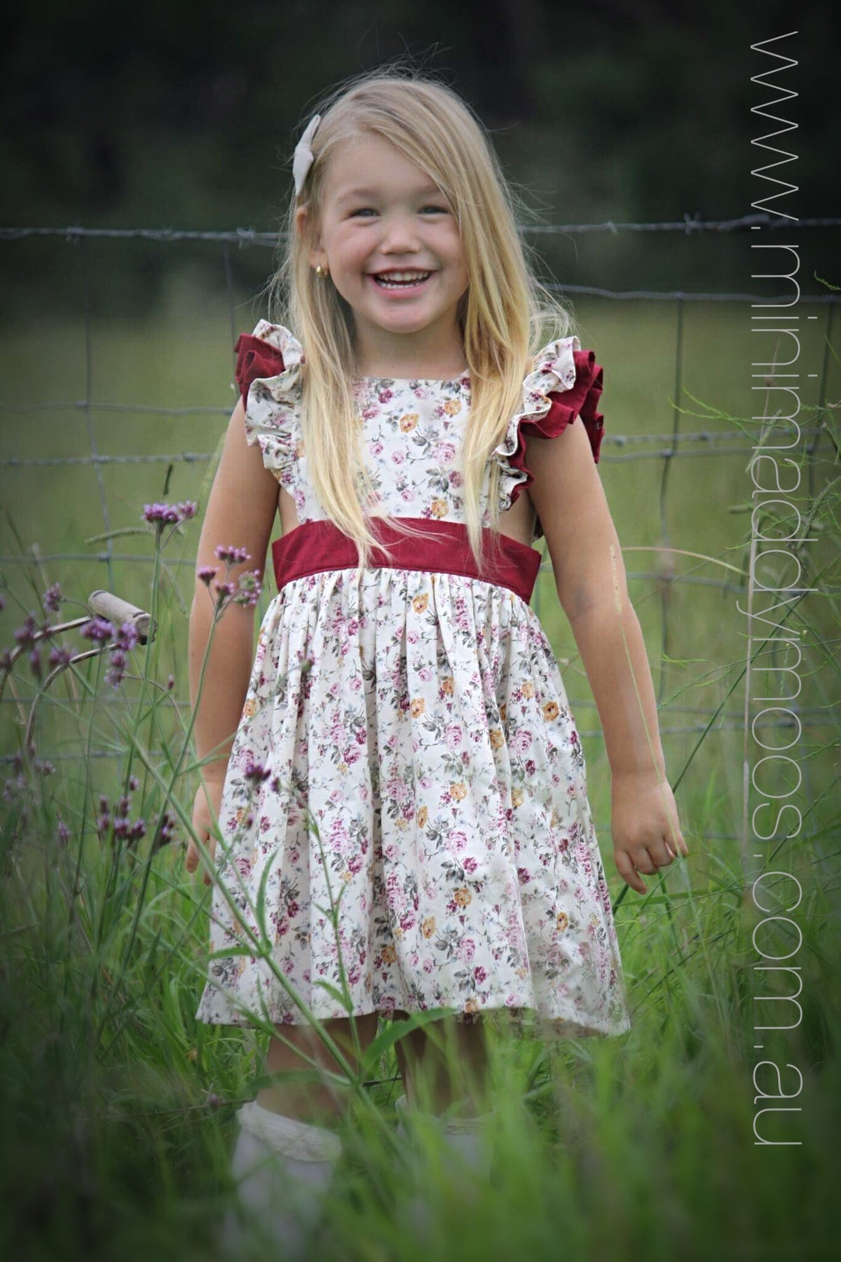 Adelaide Double Flutter Polly Pinafore - Mini Maddy Moo's
