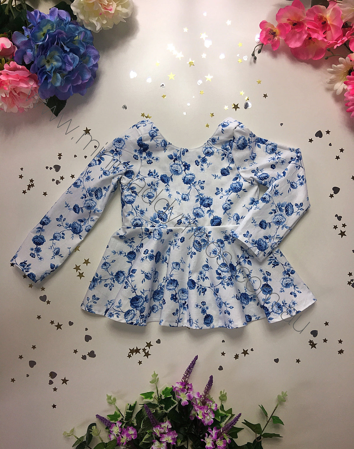Custom -  Longsleeve Peplum Top or Dress - Mini Maddy Moo's