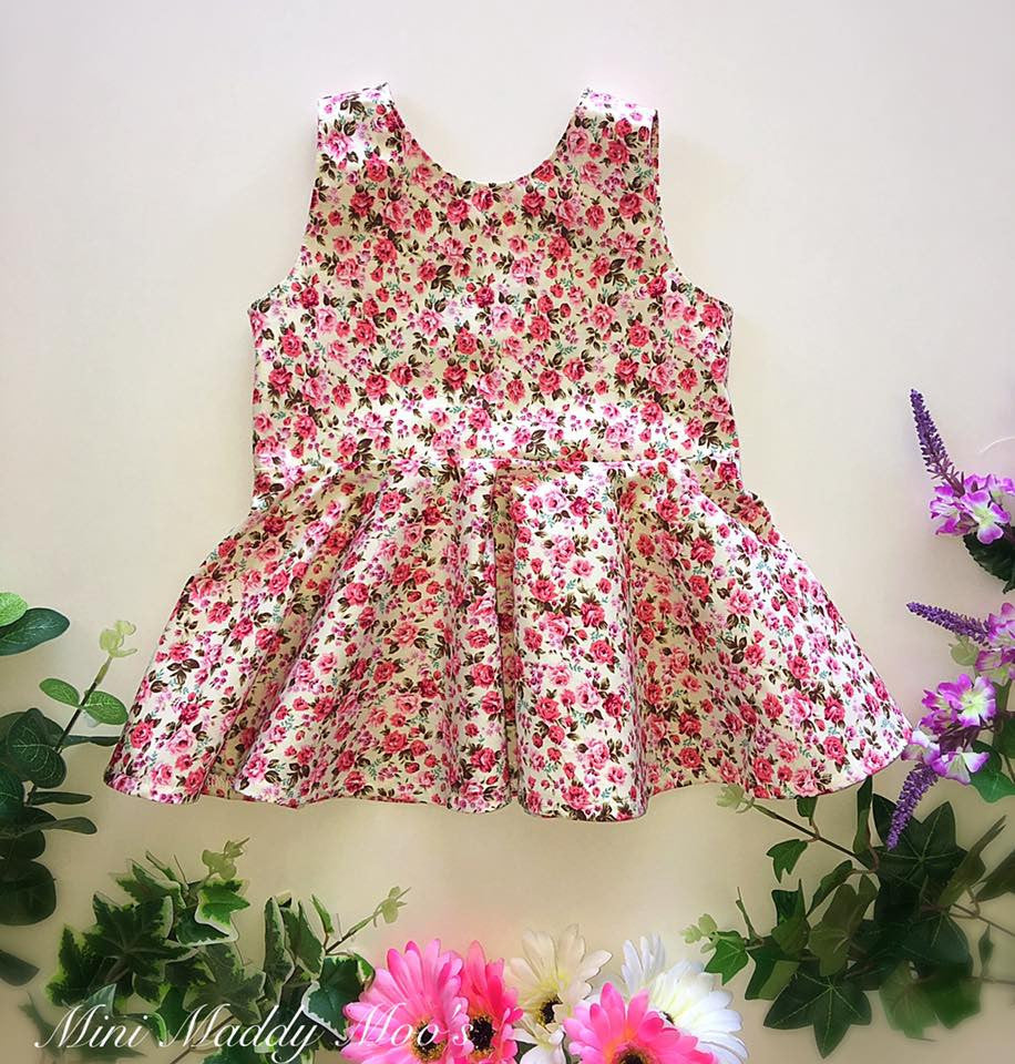 Custom - Peplum Top or Dress - Mini Maddy Moo's
