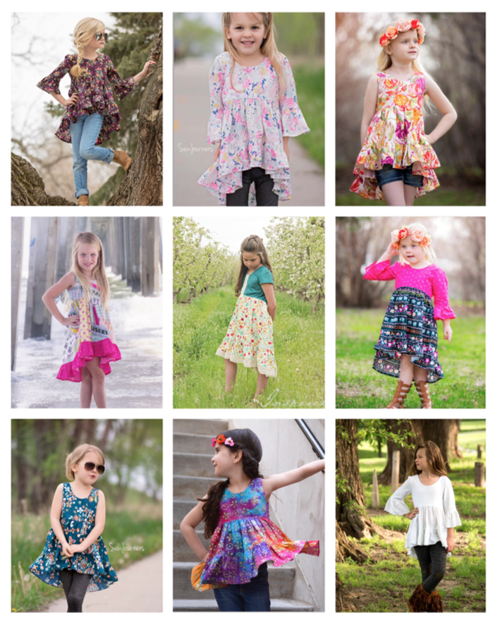 Patricia's Boho High Low Top & Dress - Mini Maddy Moo's