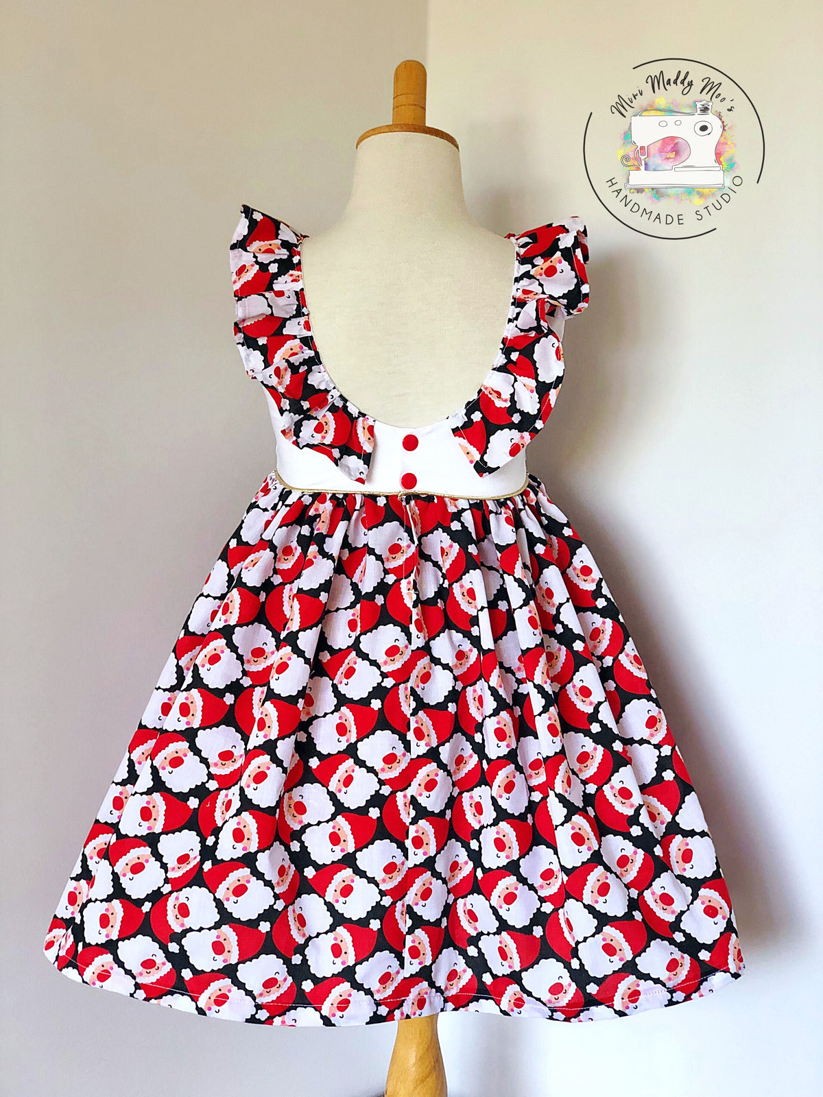 Christmas Tea Party Dress - Mini Maddy Moo's