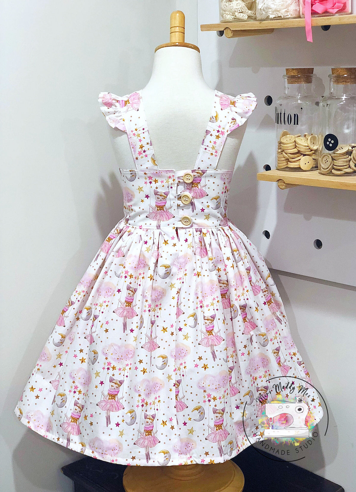 Bow Peep Dress - Mini Maddy Moo's