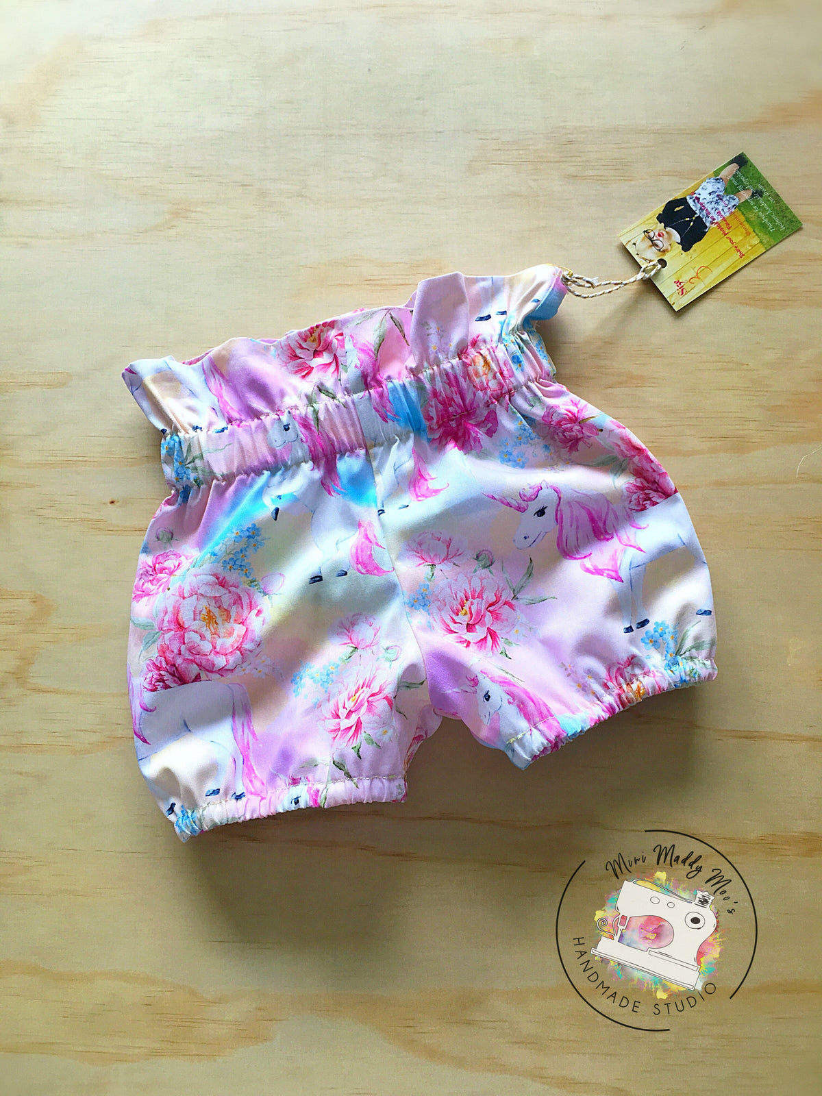 Ombré Paper-bag Shorts - Mini Maddy Moo's