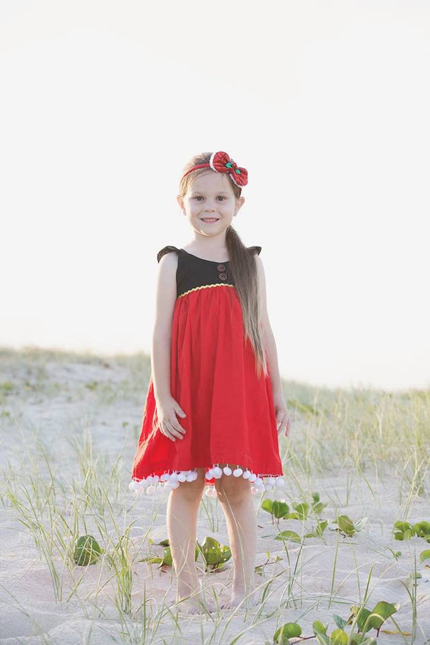 Signature Red & Black Christmas Fairy Dress - Mini Maddy Moo's