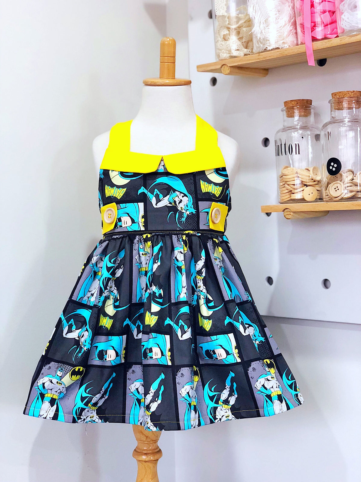 Batman Ginger Dress - Mini Maddy Moo's