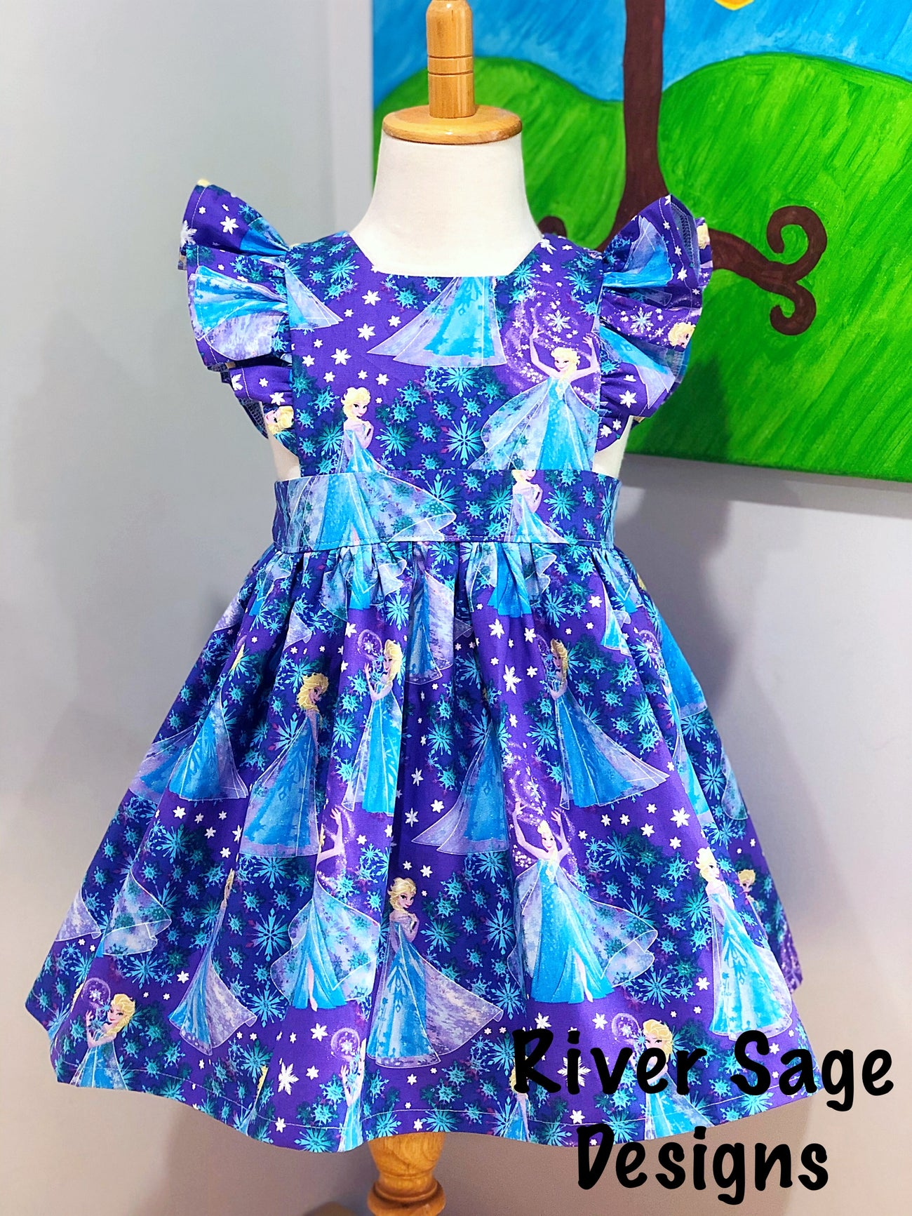 Elsa's Frozen Wonderland Polly Pinafore - Mini Maddy Moo's