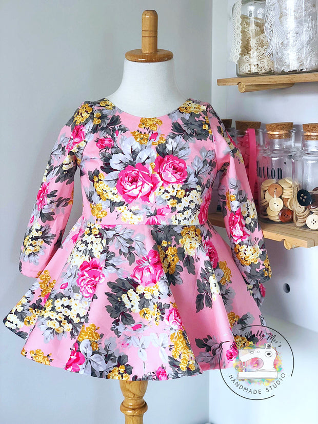 Angelique Pink Peplum Top or Dress - Mini Maddy Moo's