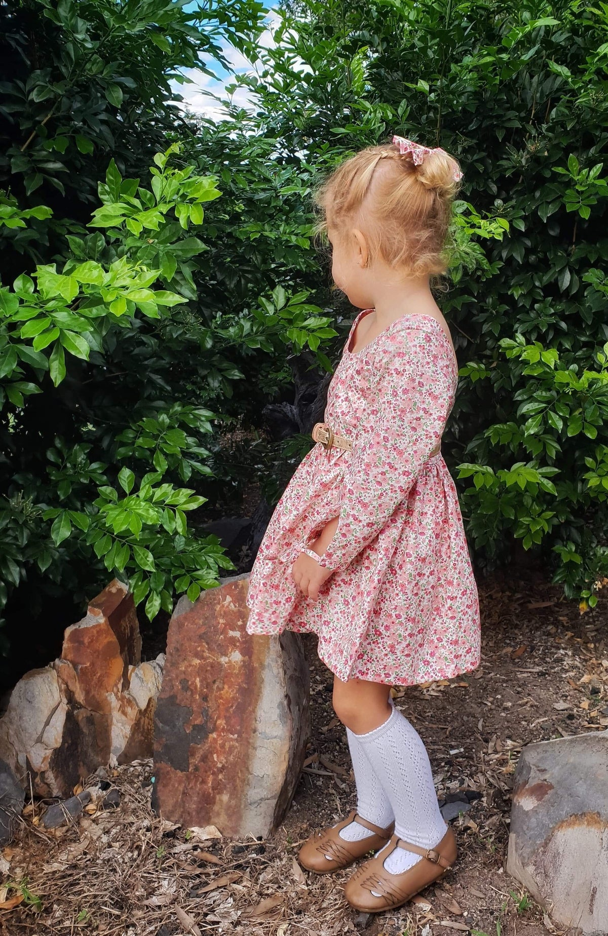 Cora Pink Tea Party Dress - Mini Maddy Moo's