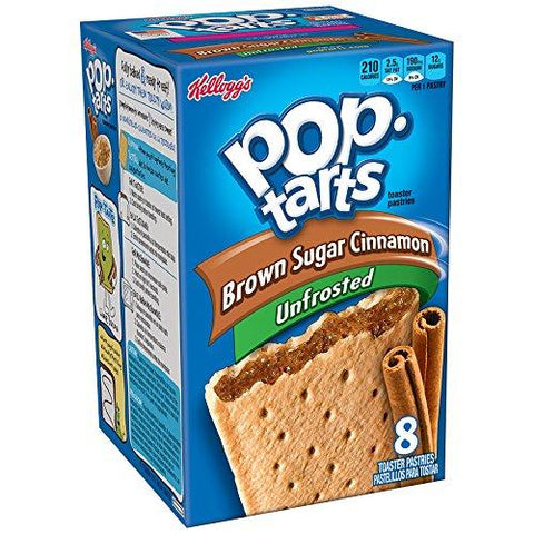 POPTARTS BROWN SUGAR CINNAMON UNFROSTED