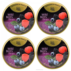 CAVENDISH WILD BERRY DROPS TIN BOX