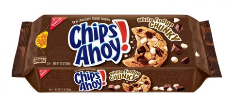 CHIPS AHOY CHUNKY WITH WHITE FUDGE 333G BULK