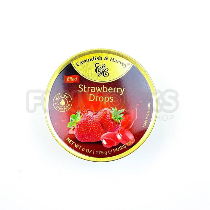 Cavendish & Harvey Filled Strawberry Drops Tin