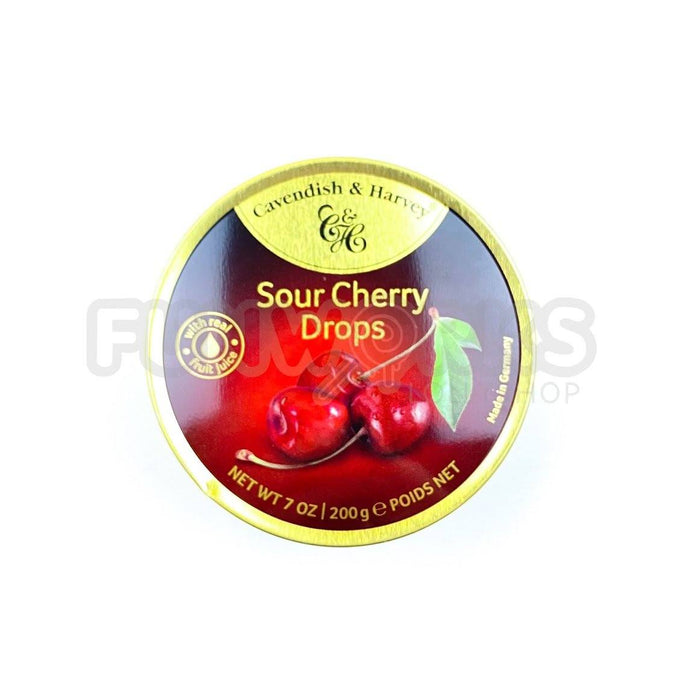 Cavendish Sour Cherry Drops Tin