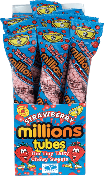 MILLIONS TUBES STRAWBERRY BOX