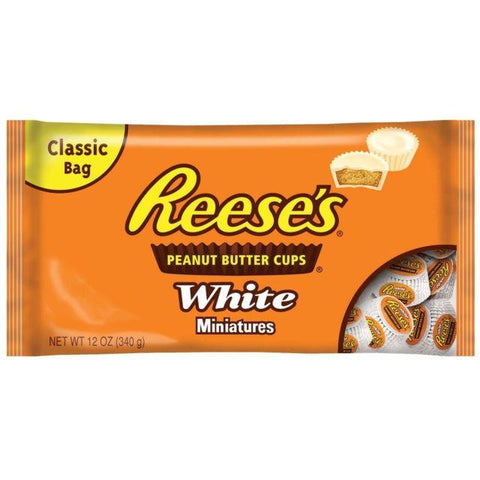 REESES MINIATURES WHITE BAG