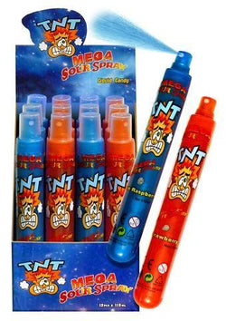 TNT SOUR SPRAY STRAWBERRY BLUE RASPBERRY BOX