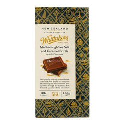 WHITTAKERS SEA SALT AND CARAMEL BRITTLE BOX
