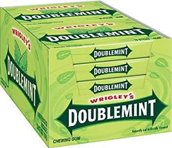 WRIGLEY'S DOUBLEMINT GUM 15 STICKS BOX