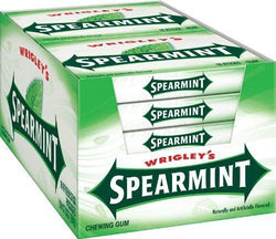 WRIGLEY'S SPEARMINT GUM 15 STICKS BOX