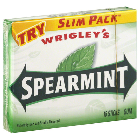 Wrigley's Spearmint Gum 15 Stick Pack
