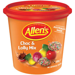 Allen's Choc & Lolly Mix Cup 200g Bulk