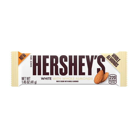 HERSHEY'S WHITE WITH WHOLE ALMONDS
