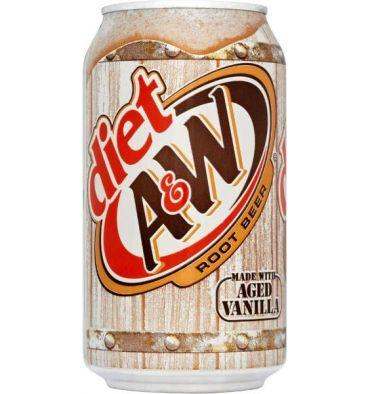 A&W DIET ROOT BEER CAN
