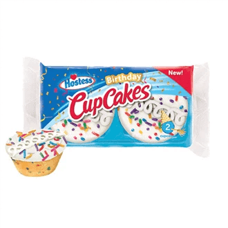 Hostess Birthday Cake Cupcakes 2 Pack Bulk