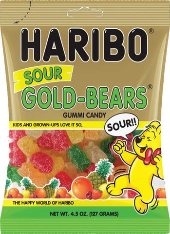 Haribo Sour Gold Bears 127g