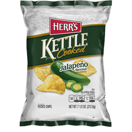 Herrs Kettle Potato Chips Jalapeno