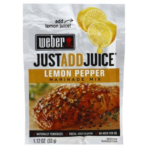 WEBER MARINADE SACHET LEMON PEPPER 32G