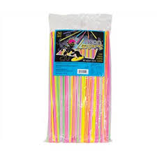 Neon Laser Sherbet Straw Single