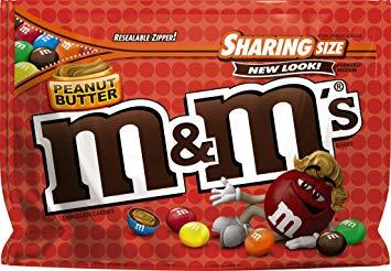 M&M PEANUT BUTTER STAND UP BAGS BOX