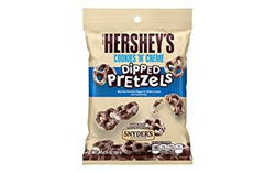 HERSHEYS COOKIES & CREAM DIPPED PRETZELS 120G
