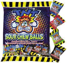 TNT SOUR CHEW BALLS BAG 150G